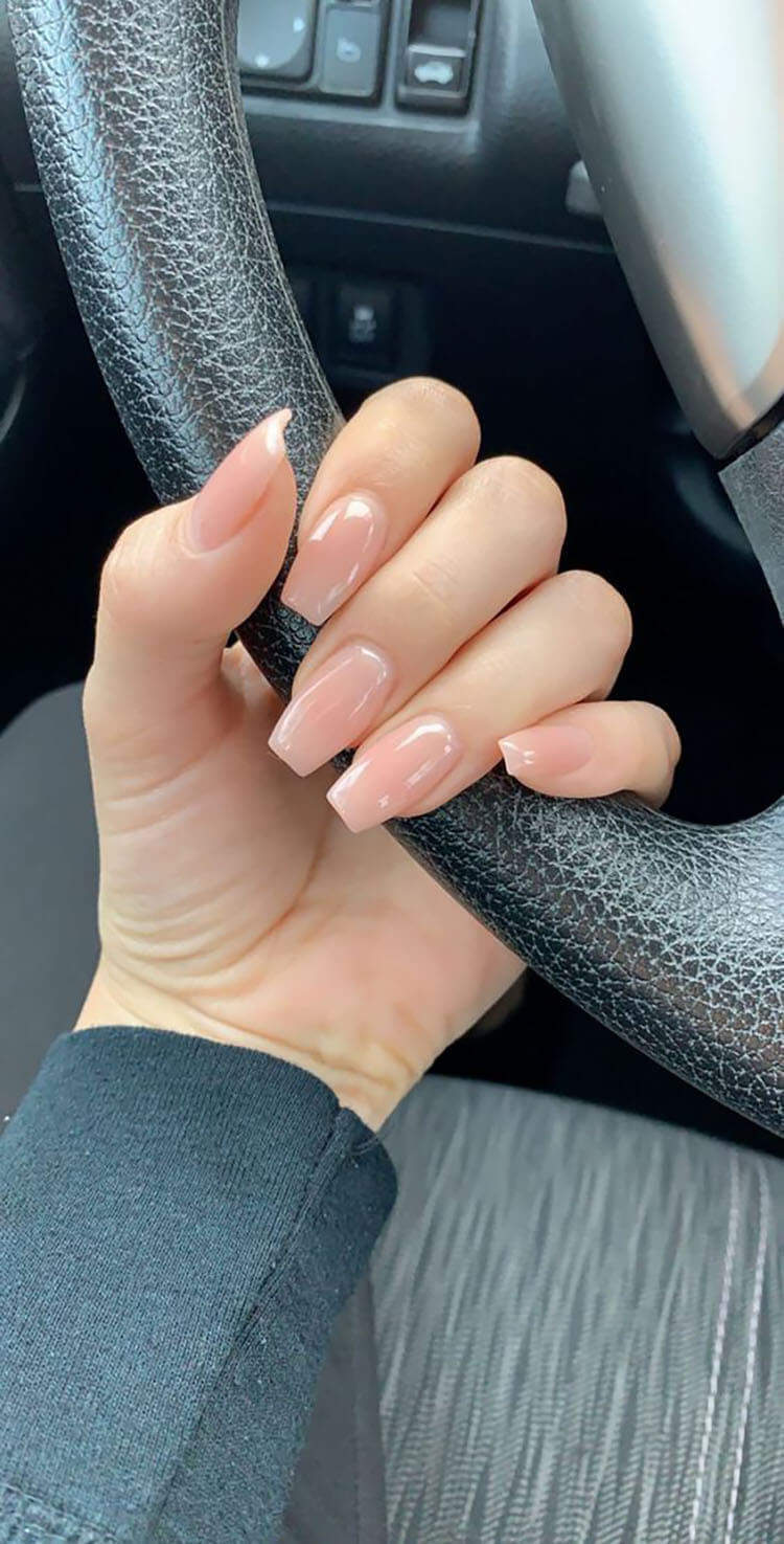simple coffin nails