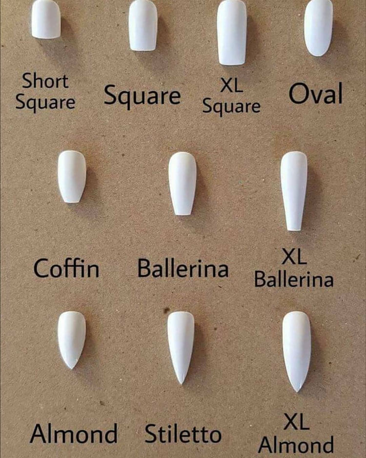 difference between nail shapes