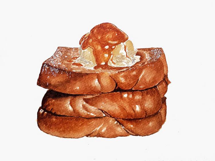 pintura de tostadas francesas