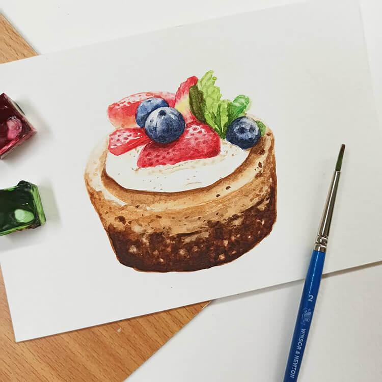 hermoso pastel acuarela
