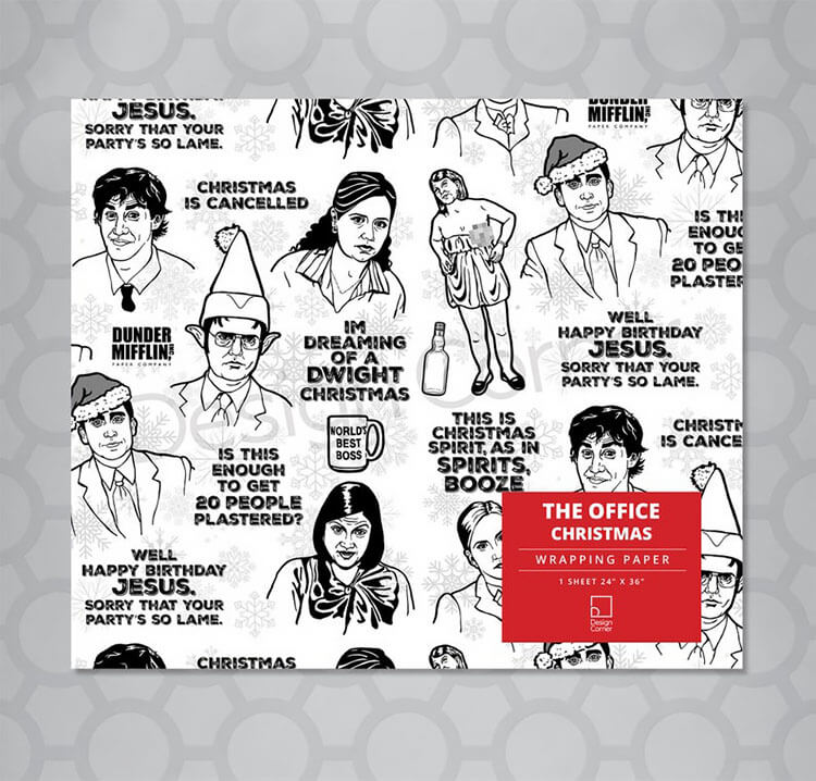 the office wrapping paper
