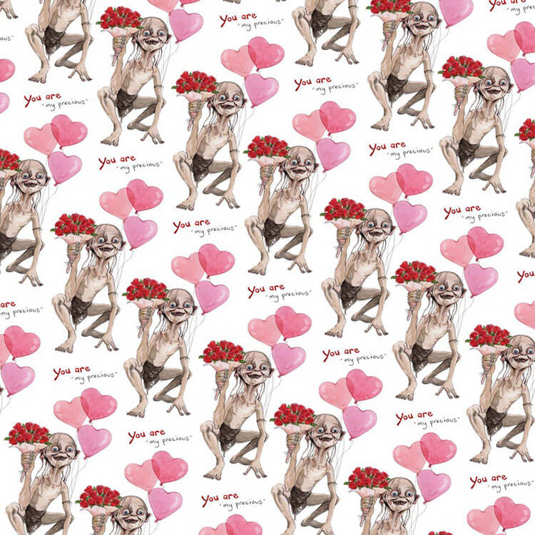 gollum wrapping paper