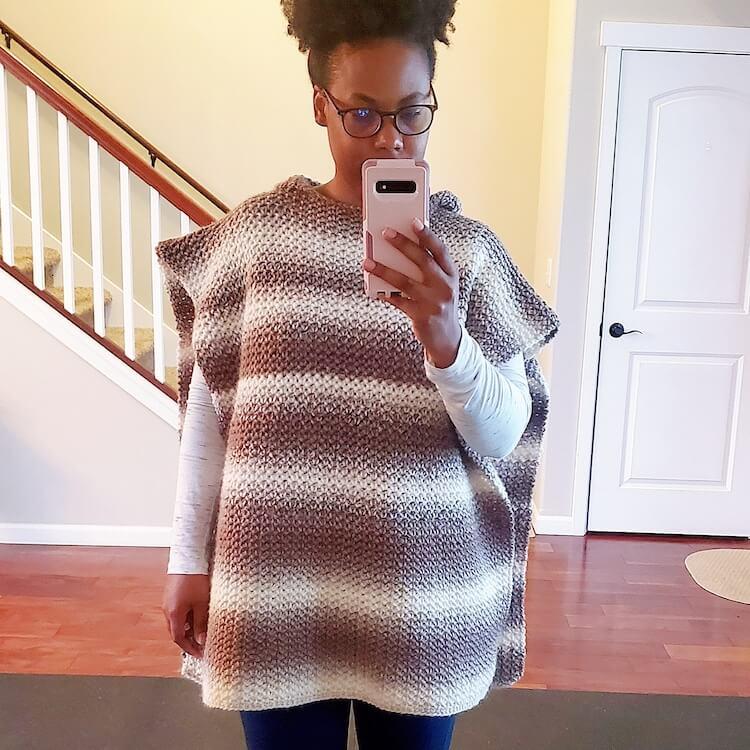 oversized hooded poncho