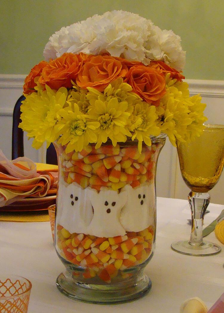 Candy Corn Creative Vase