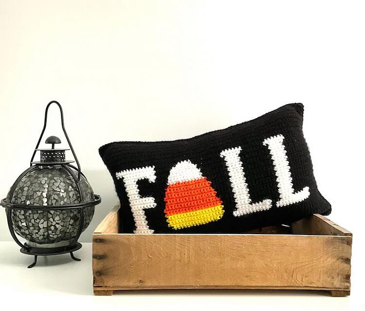 Fall Crochet Pillow