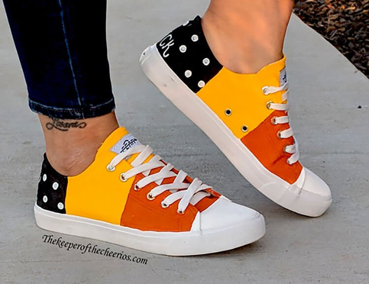 Halloween Candy Corn Shoes
