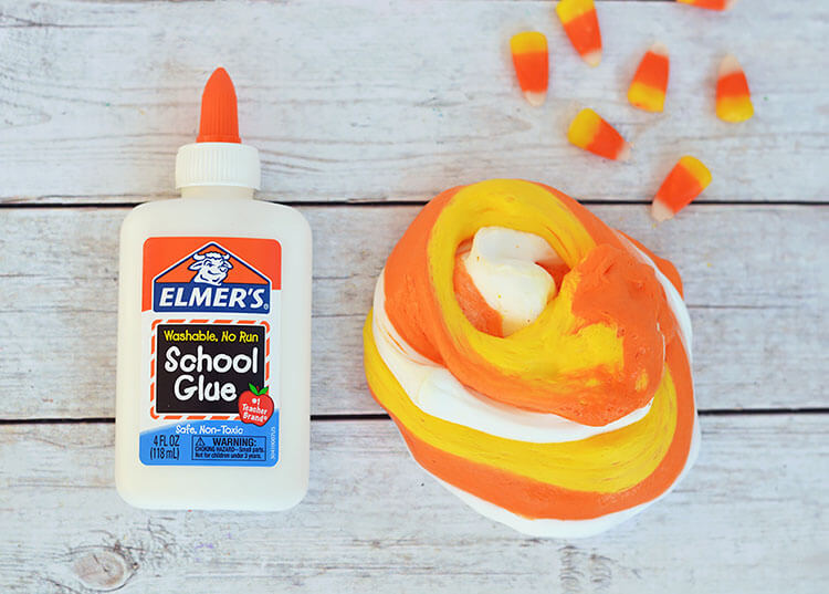 Fluffy Candy Corn Slime