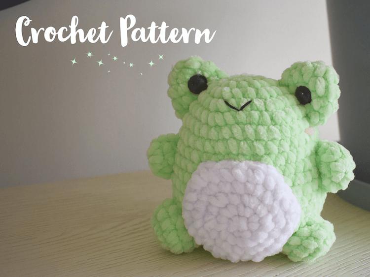 fluffy crochet frog