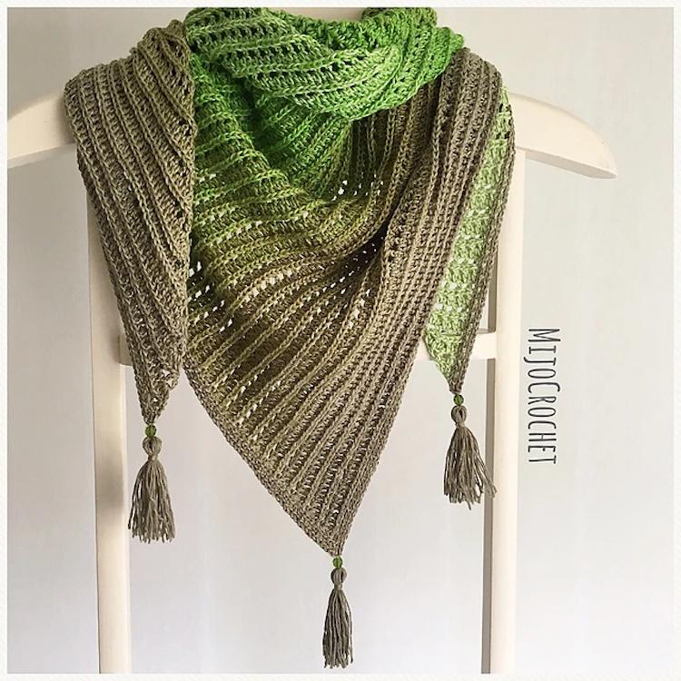dragon belly shawl pattern