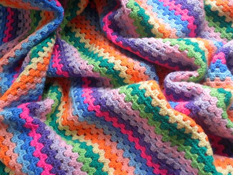 Granny Strips Crochet Blanket