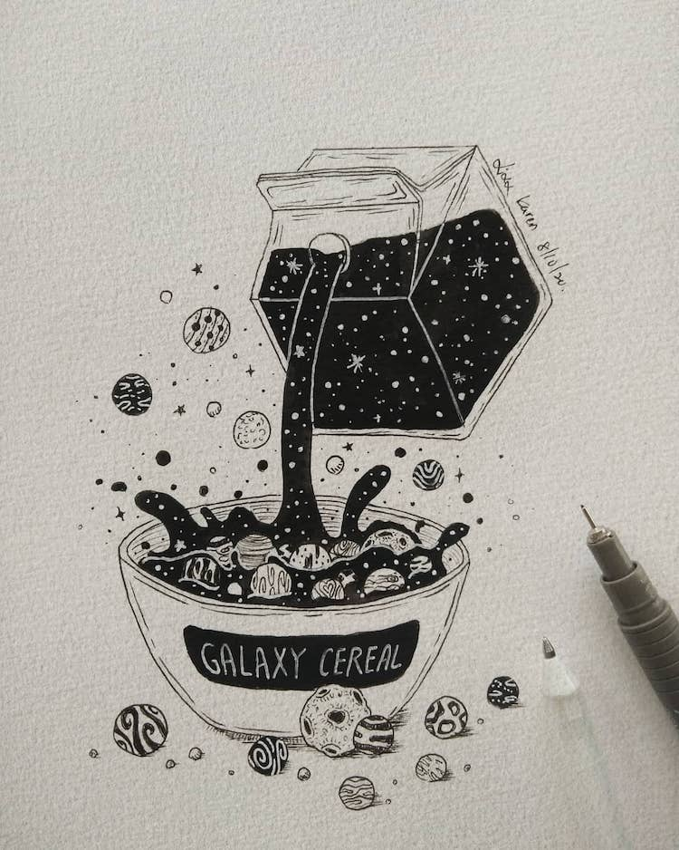 galaxy cereal drawing