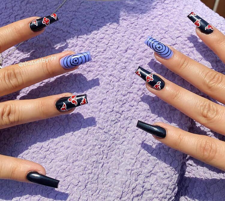 Naruto Akatsuki Nails