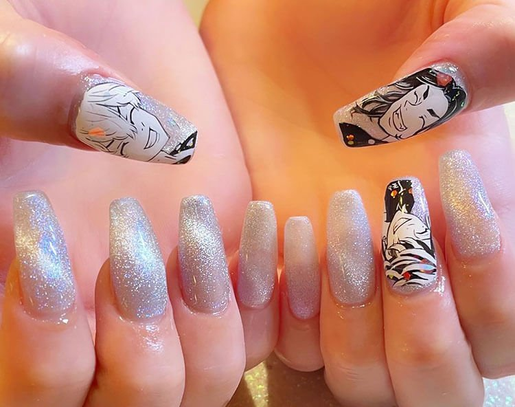 tokyo revengers silver nails