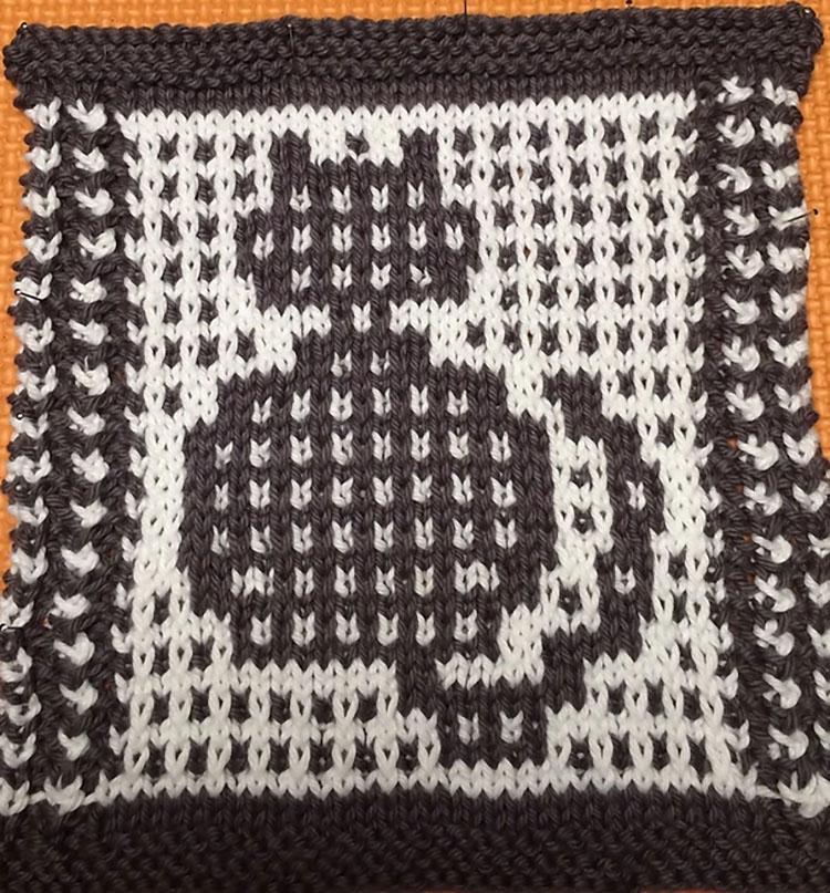Dishcloth in Mosaic Cat