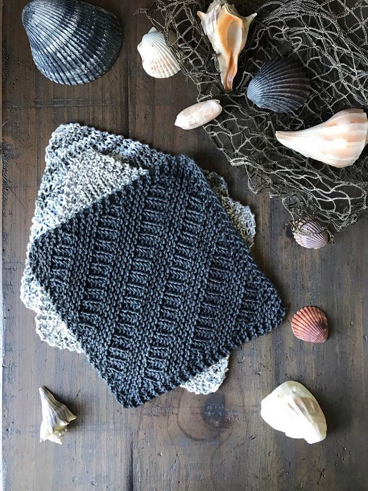 nautical dishcloth