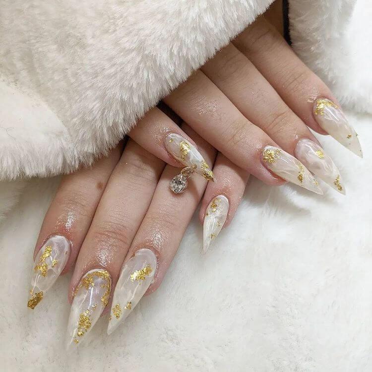 stiletto clear nails