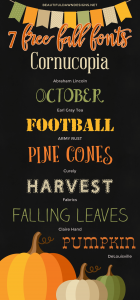 7 Free Fall Fonts (With Free Printable) | Font Series #25