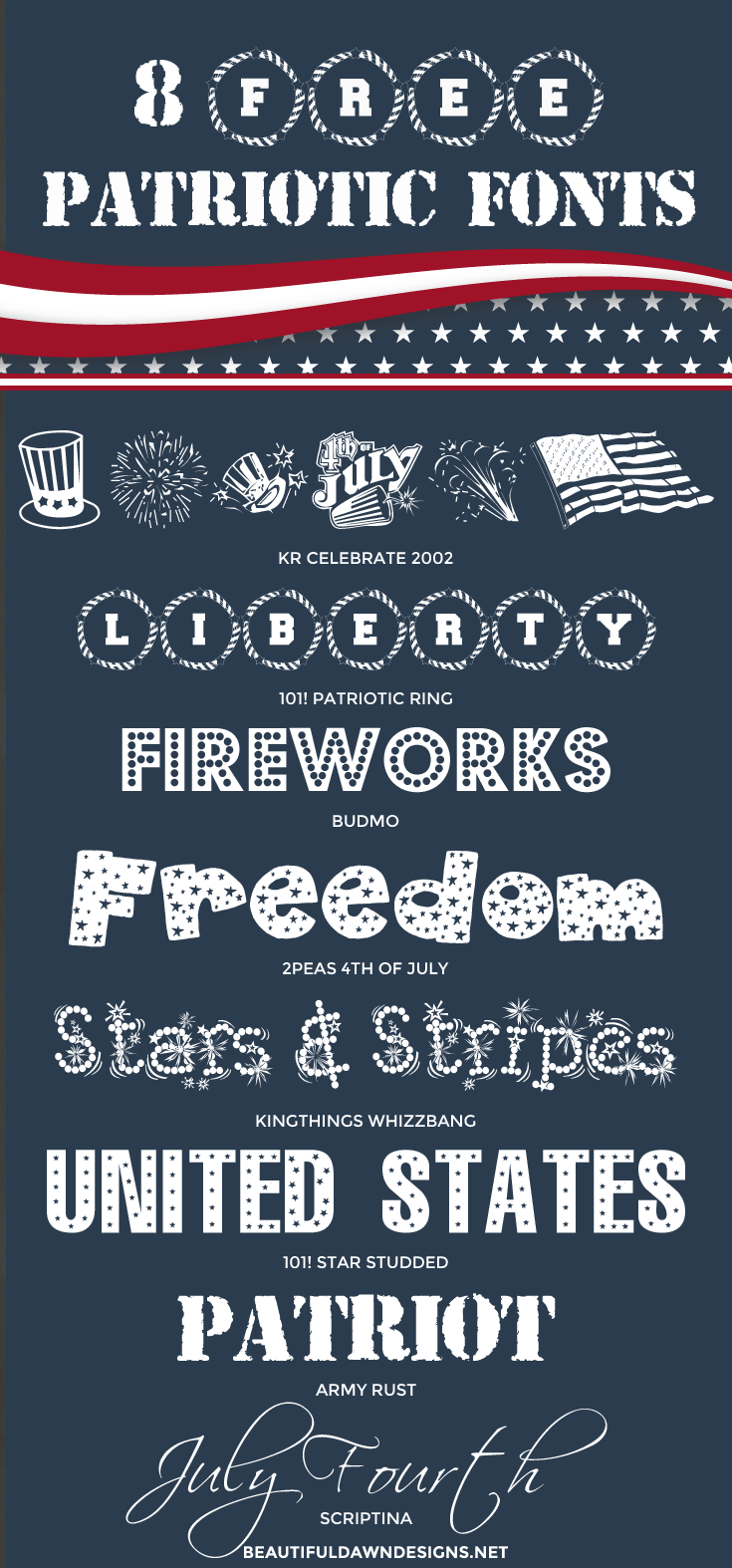 8 free patriotic fonts