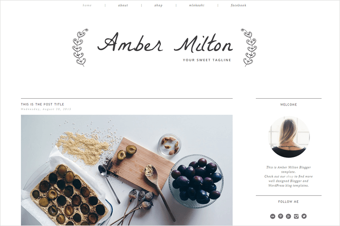 amber-blogger-template