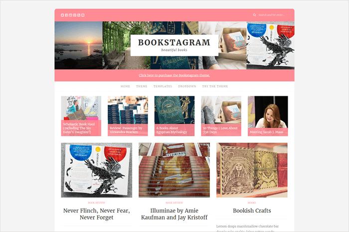 bookstagram-wordpress-theme