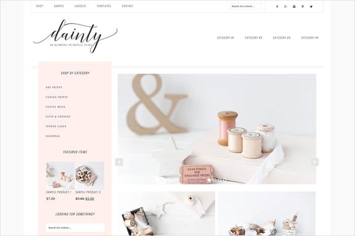 dainty-wordpress-theme