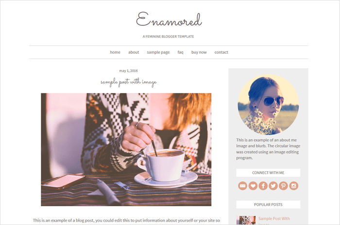 enamored-blogger-template