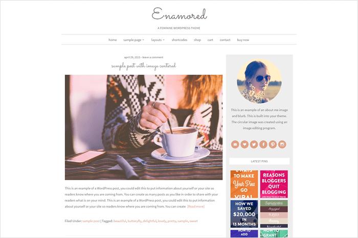 enamored-wordpress-theme
