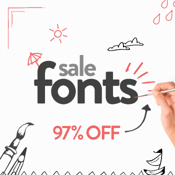 SALE!! 96% OFF Fonts & Graphics