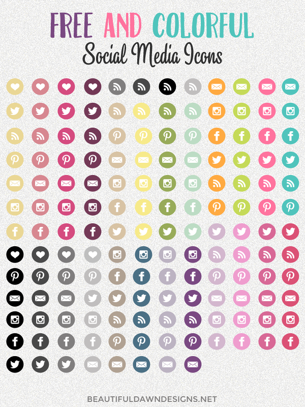 Free and colorful social media icons.