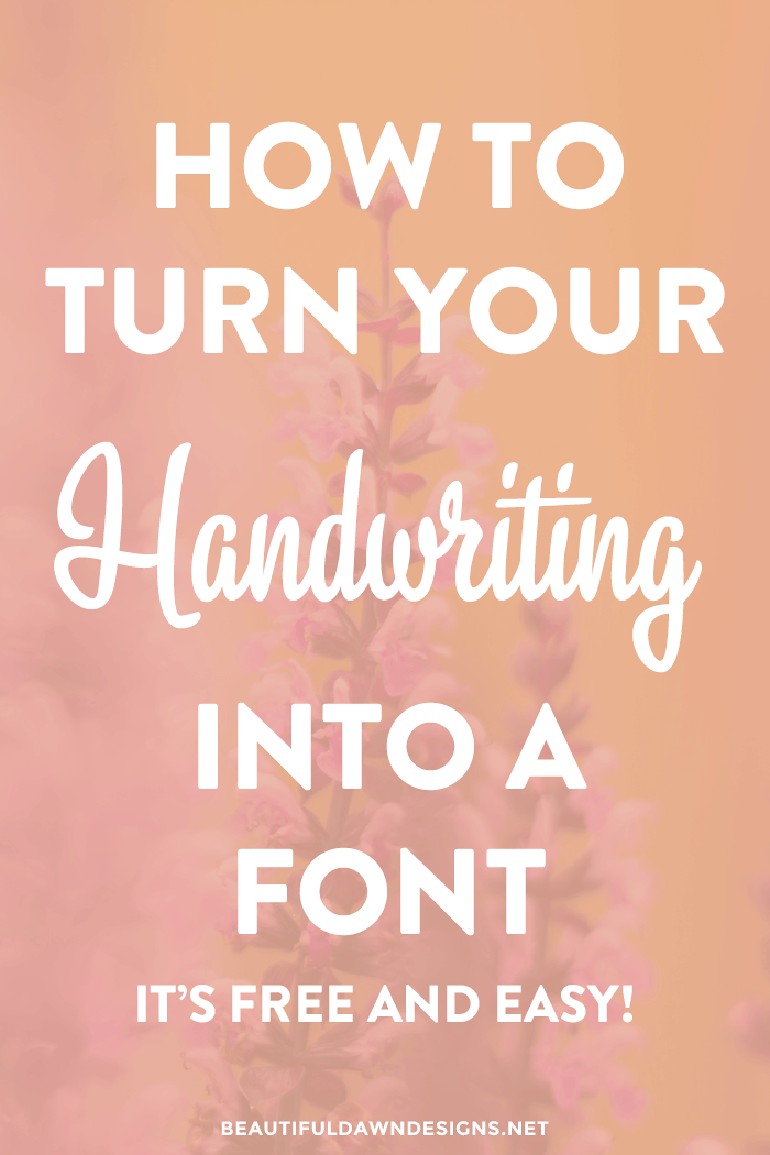 If you're a creative person, I just know you're going to get a kick out of this tutorial. In this tutorial I'll show you how to turn your handwriting into a font for free.