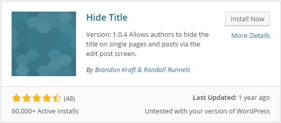 Hide Title Plugin