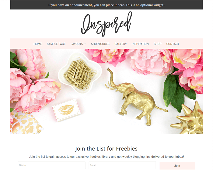 Inspired - WordPress theme for women bloggers