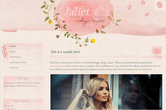 juliet-blogger-template