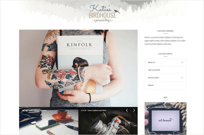 katies-birdhouse-wordpress-theme