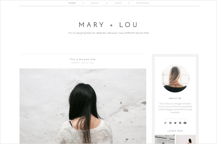 mary-blogger-template