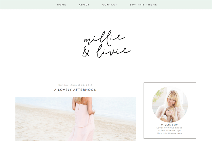 millie-blogger-template