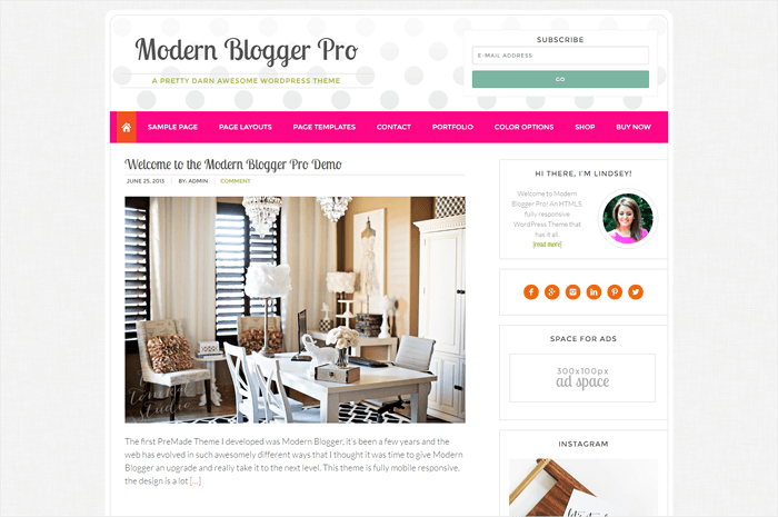 85+ Best Feminine WordPress Themes for Bloggers - Beautiful Dawn Designs