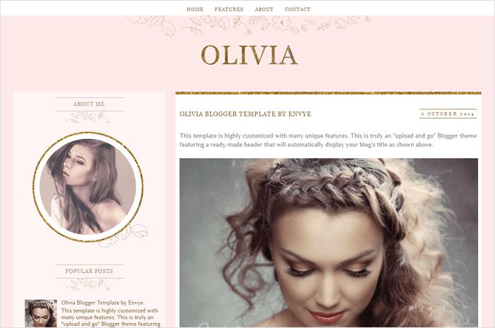 olivia-blogger-template