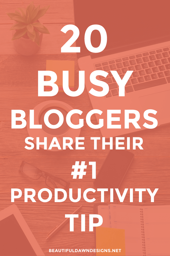 If you're a blogger who wants to learn how to increase your productivity, you're in for a treat. In this post, 20 pro bloggers share their number one productivity tip.