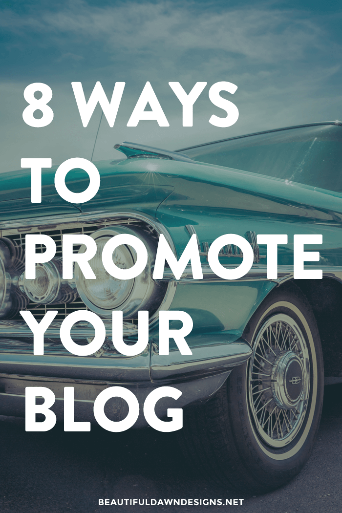 8 ways to promote your blog