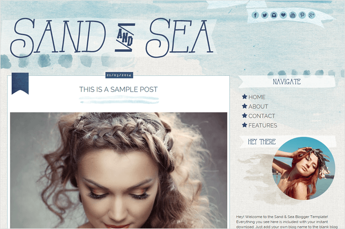 sand-sea-blogger-template
