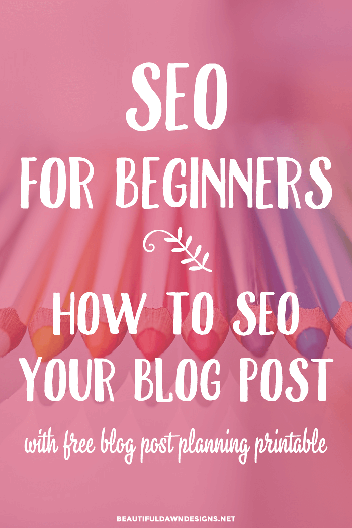 Seo for beginners tutorial.