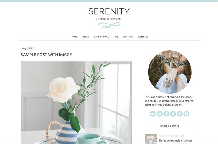 serenity-blogger-template
