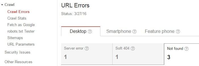 URL errors