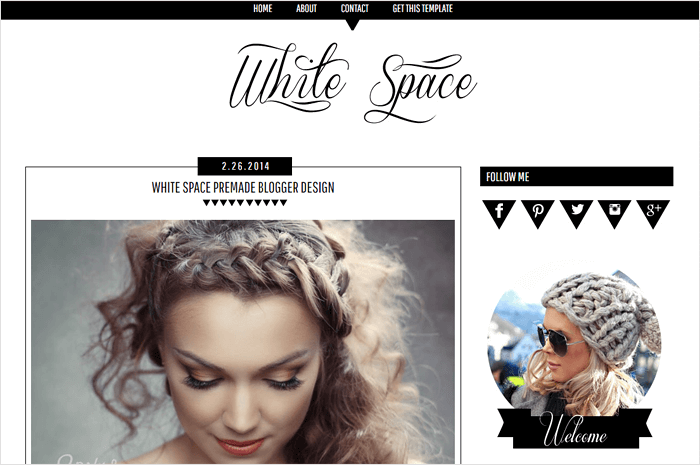 white-space-blogger-template